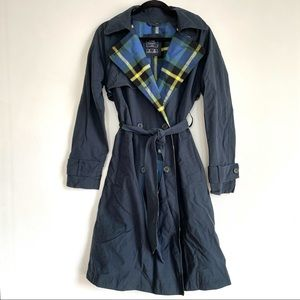 Abercrombie Trench Coat with Flannel Lining